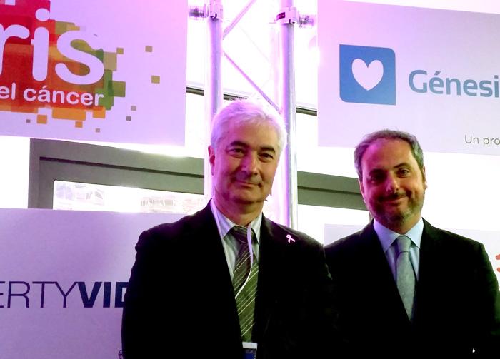 Dr Atanasio Panidiella y Dr. Ocaña, del proyecto del cáncer de ovario