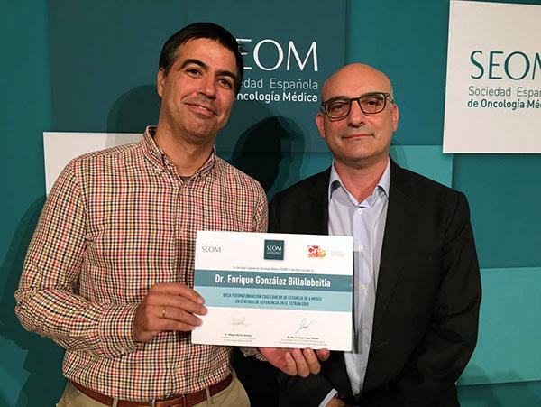 CRIS: becas 2016. Dr. Enrique González y el Dr. Joaquín Martínez