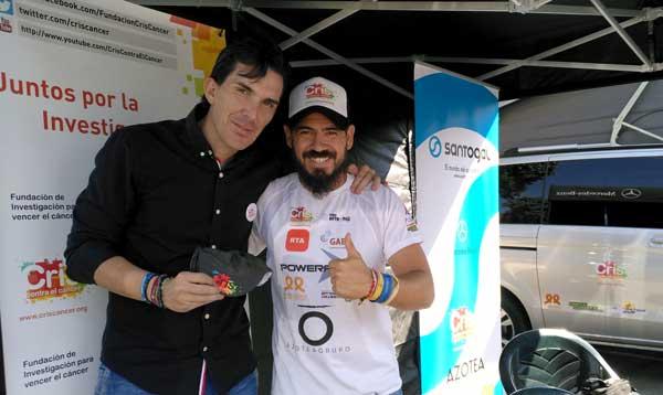 El ex ciclista profesional, Luis Pasamonte y Daniel Guerrero de CRIS