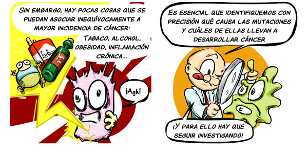 comic SuperJ al rescate: las causas del cáncer