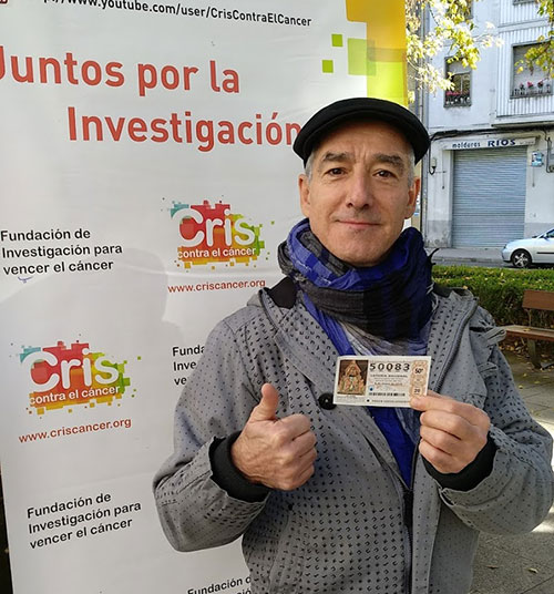 Sergio Pazos con CRIS contra el cáncer