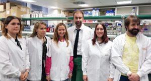El Dr. Quintela y su equipo en el CNIO