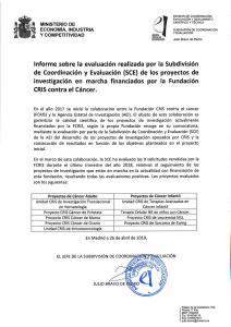 Evaluación de la Agencias estatal de Investigación de la Fundación CRIS