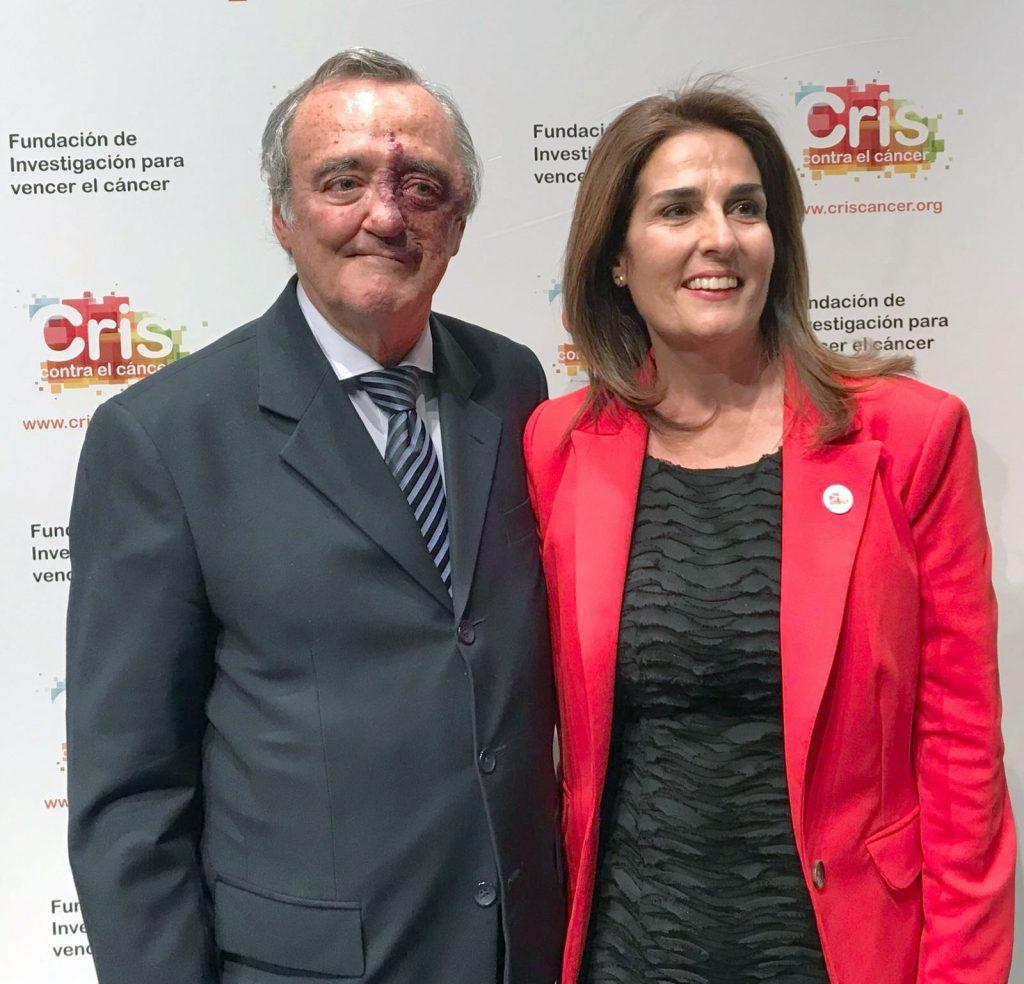 Dr. Mariano Barbacid y Marta Cardona directora de Fundación CRIS