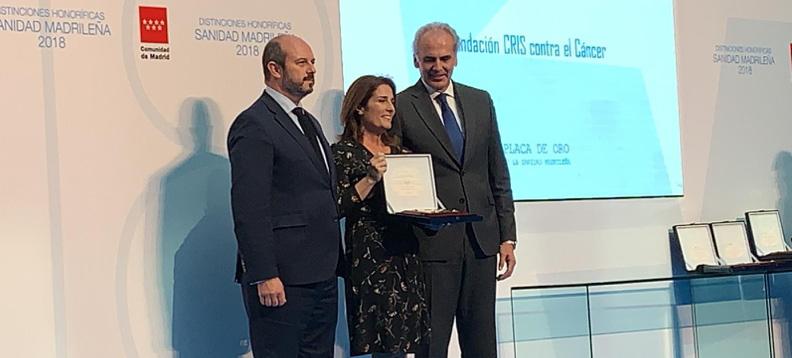 Premio de la sociedad Española de Hematología y Hemoterapia a la fundacion cris