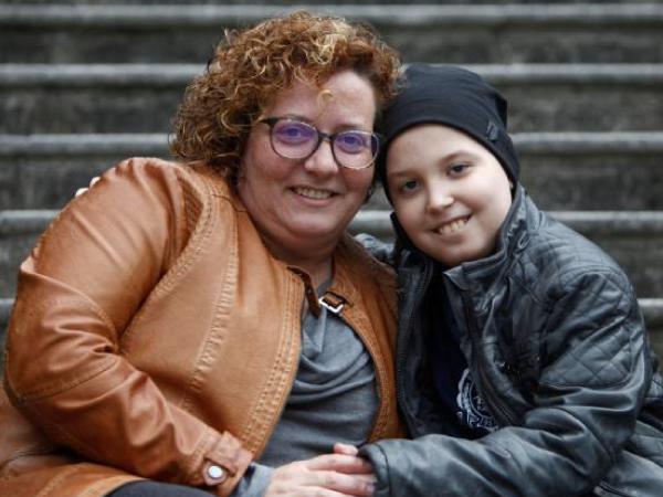 mamá de Noel, paciente de meduloblastoma