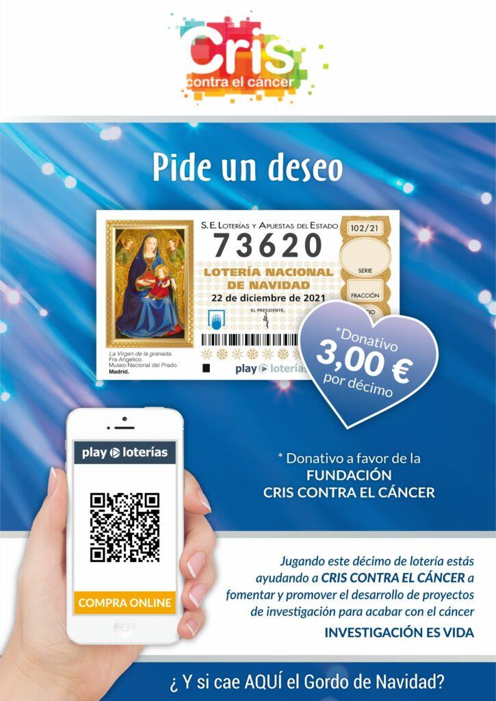 Compra lotería de Navidad de CRIS contra el cáncer